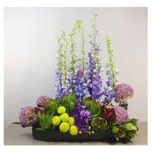 Arrangement of Cut Flowers mauve and purple